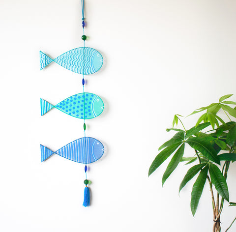 Tropical Fish Wall Hanging - Blue