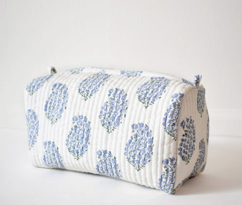 Blue Paisley Toiletry Bag