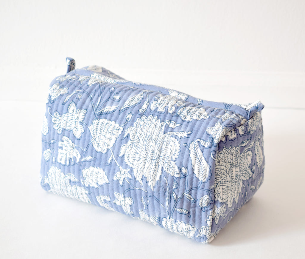 Blue Lily Toiletry Bag