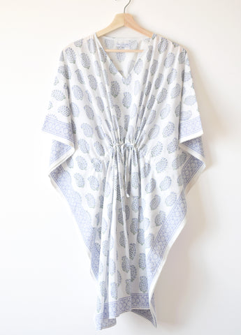 Lilac Paisley Kaftan Dress