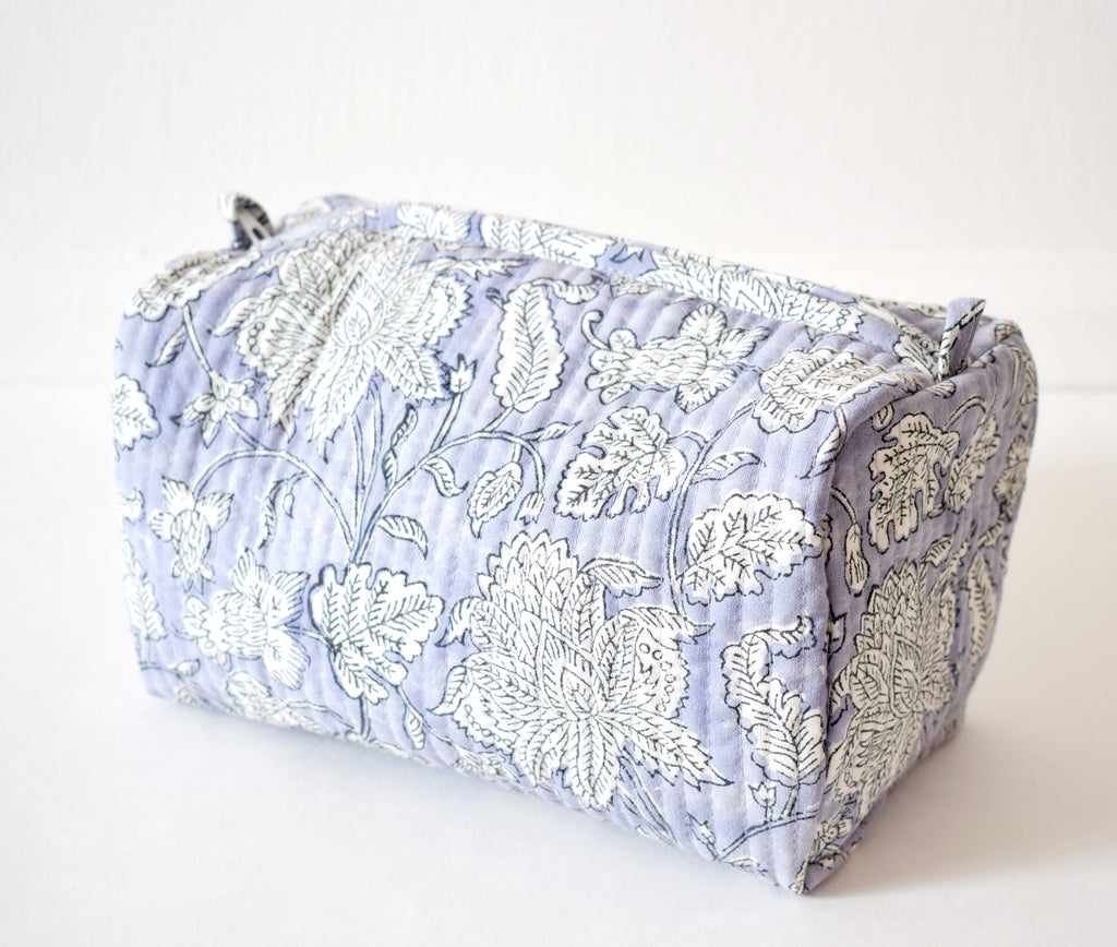 Lilac Lily Toiletry Bag