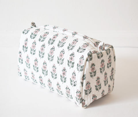 Blush Flower Toiletry Bag