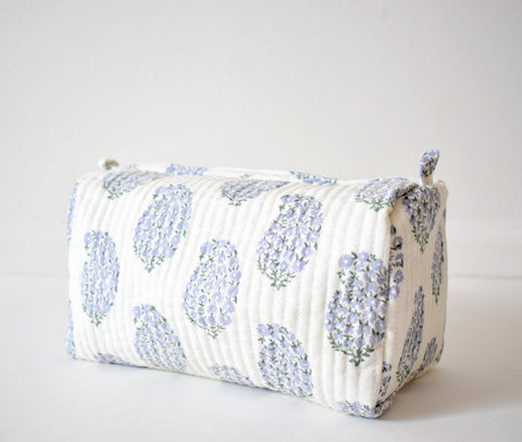 Lilac Paisley Toiletry Bag