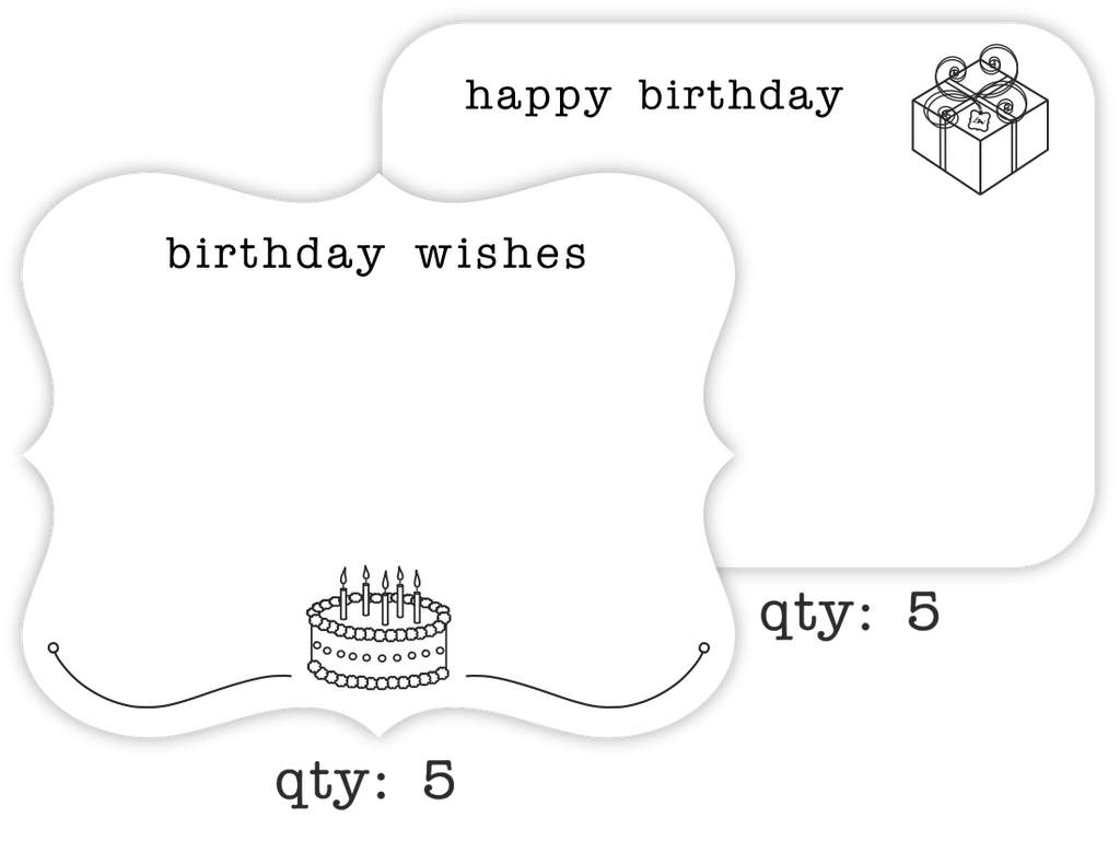 Birthday Greeting Cards Variety 10 Pack