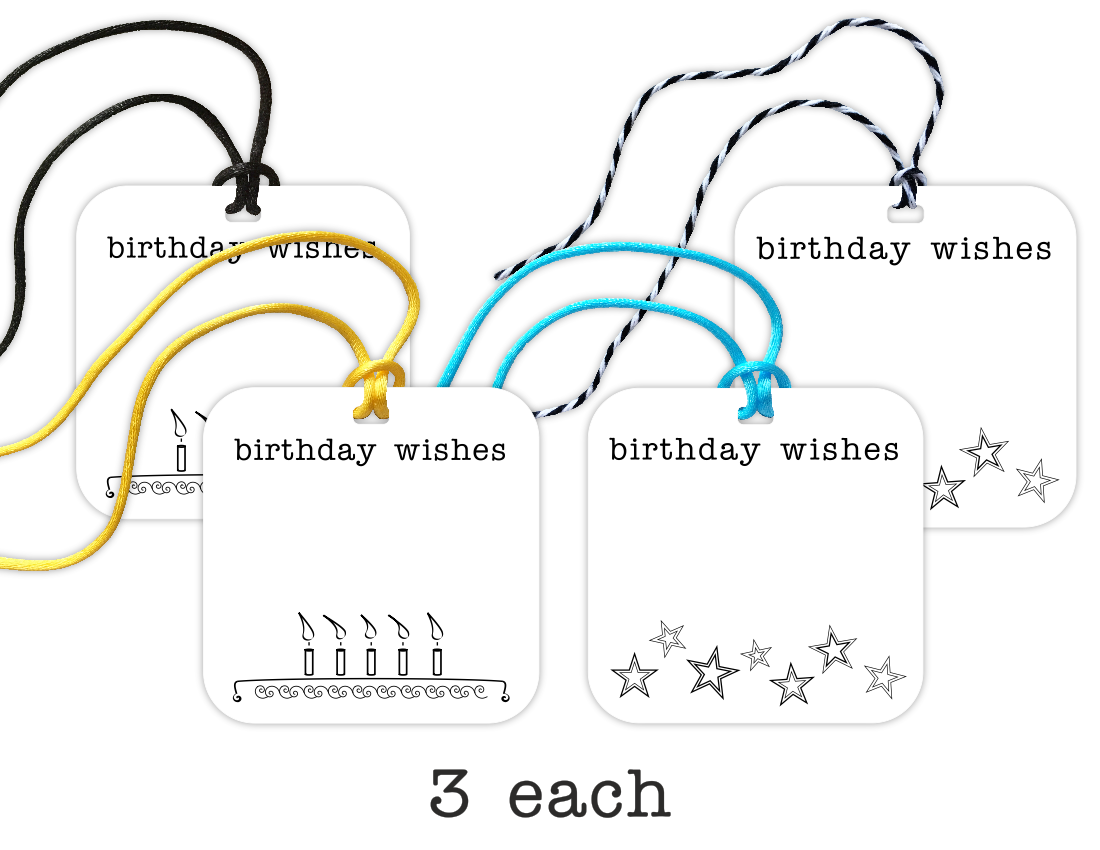 birthday gift tags, 12-pack - the gifted tag