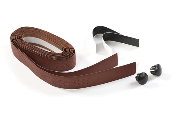 Bassi brown leather bar tape