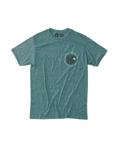 BRUSHSTROKE TEE - HEATHER TEAL