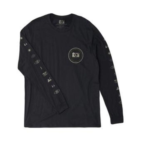 EXPOSURE L/S TEE BLACK