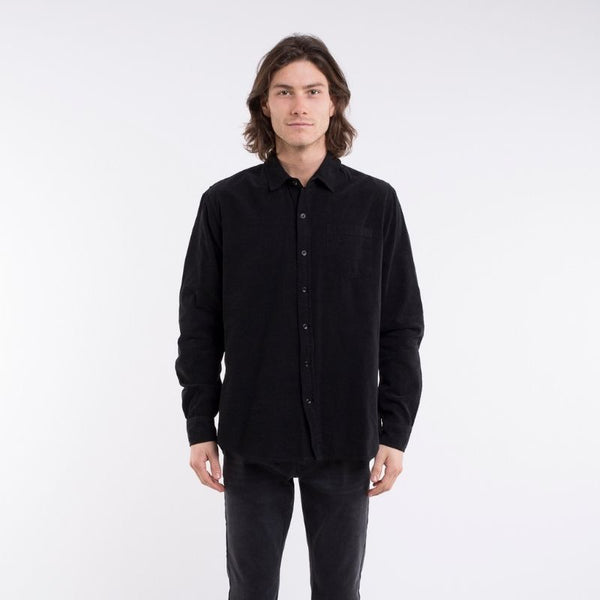 Costanza L/S Cord Shirt Black
