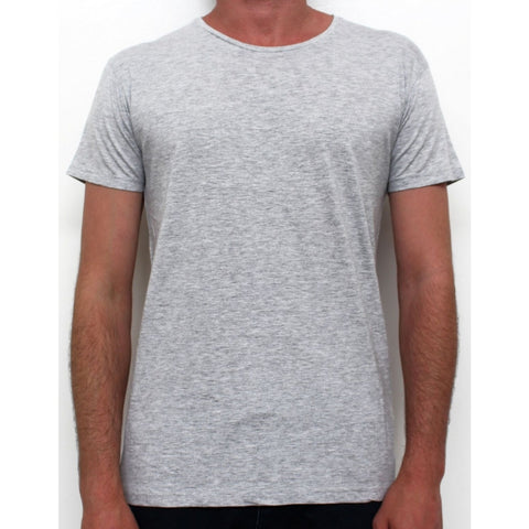 Basic Crew Neck Tee Grey Marle