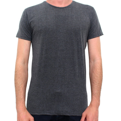 Basic Crew Neck Tee Charcoal Marle