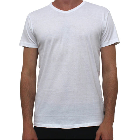Basic V Neck Tee White