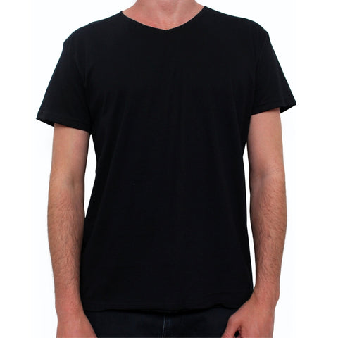 Basic V Neck Tee Vintage Black