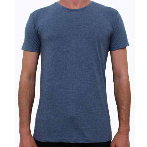 Basic Crew Neck Tee Night Blue Marle