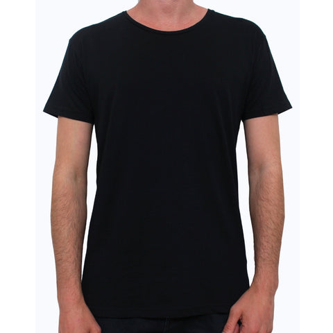 Basic Crew Neck Tee Vintage Black