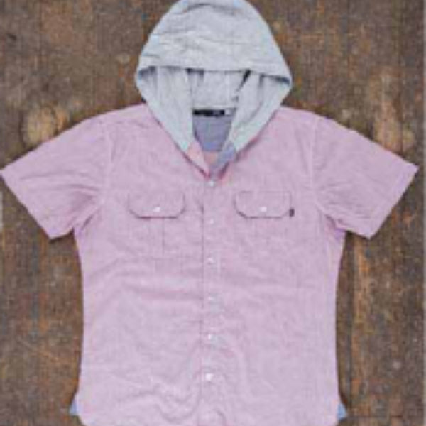 Larson Hooded S/S Shirt Red/White