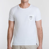 Shield Pocket Tee White
