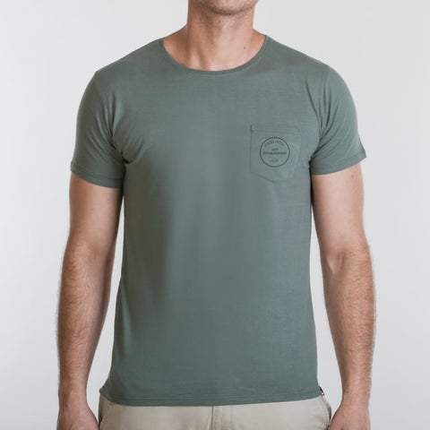 Anti-Establishment Pocket Tee Green