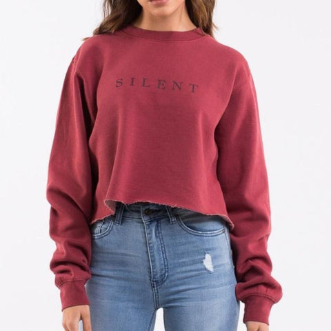 Autumn Crop Crew Burgundy