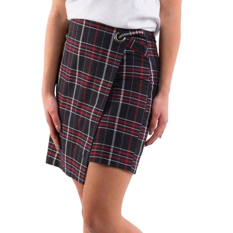 Rated Plaid Skirt Navy