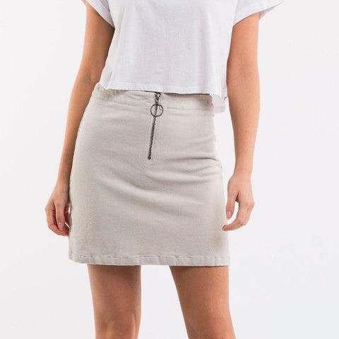 Corded Skirt Oxford Tan