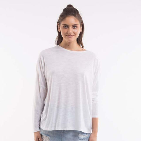Around Again Long Sleeve Grey Marle