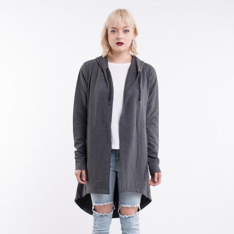 Ashleigh Hooded Cardi Charcoal Marle