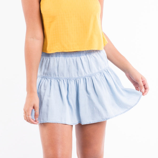 Boe Skirt Light Blue