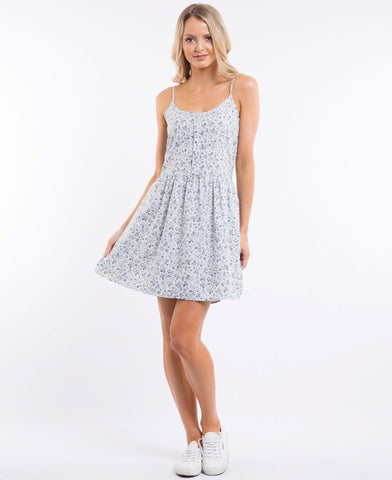 Bianca Dress Blue Ditsy Day Print