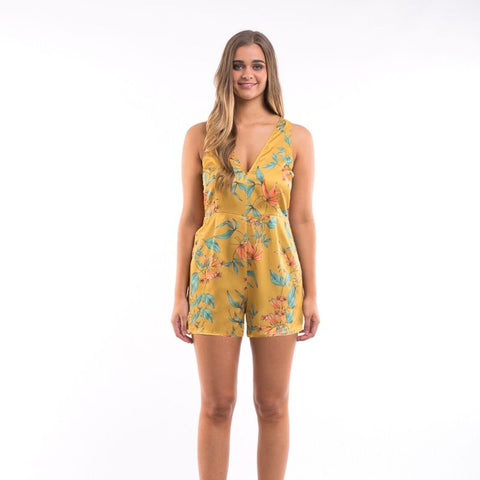 Arabella Playsuit Tropical Print