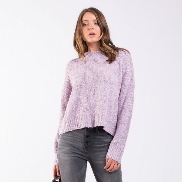 Assorted Knit Crew Soft Purple