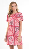 Ballina Tee Dress Patchwork Print