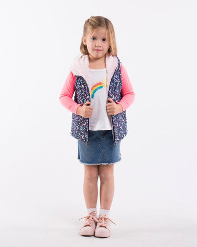 RAINBOW DREAMS PUFFA VEST