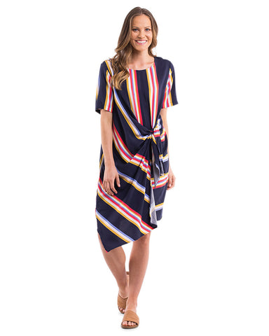 TULLULA STRIPE TIE DRESS