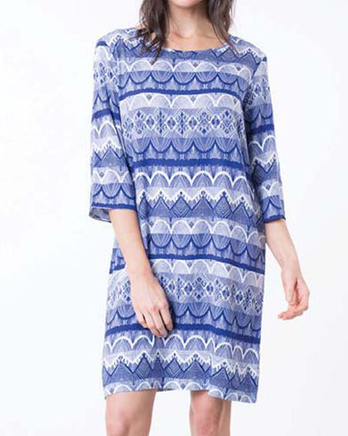 IRIS 3/4 SLEEVE DRESS