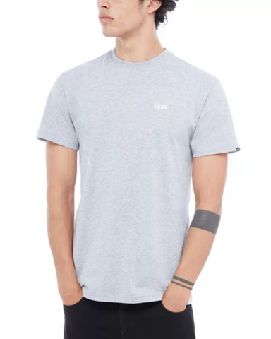VANS LEFT CHEST LOGO TEE GREY