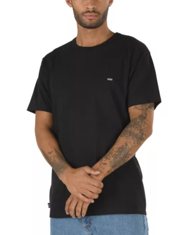 VANS LEFT CHEST LOGO TEE BLACK