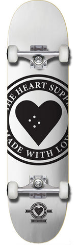 Heart Supply Badge Logo Complete White 8.25""
