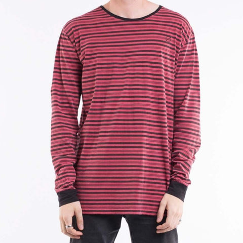 Void L/S Tee Red And Black