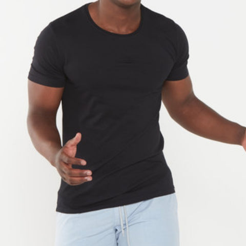 Stg Basic Crew Tee Washed Black