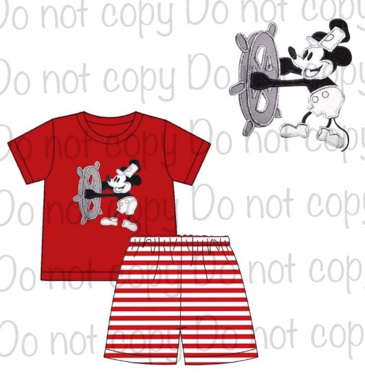 Copy of Animal Kingdom Appliqué Sets and Mickey Cruise Set [Mickey Cruise ship]