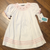 White Smocked Floral Cord Dress