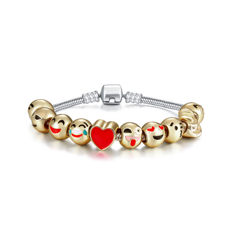 More Smilies 10 Charm Emoji Bracelet Kit By Emoji Bracelet