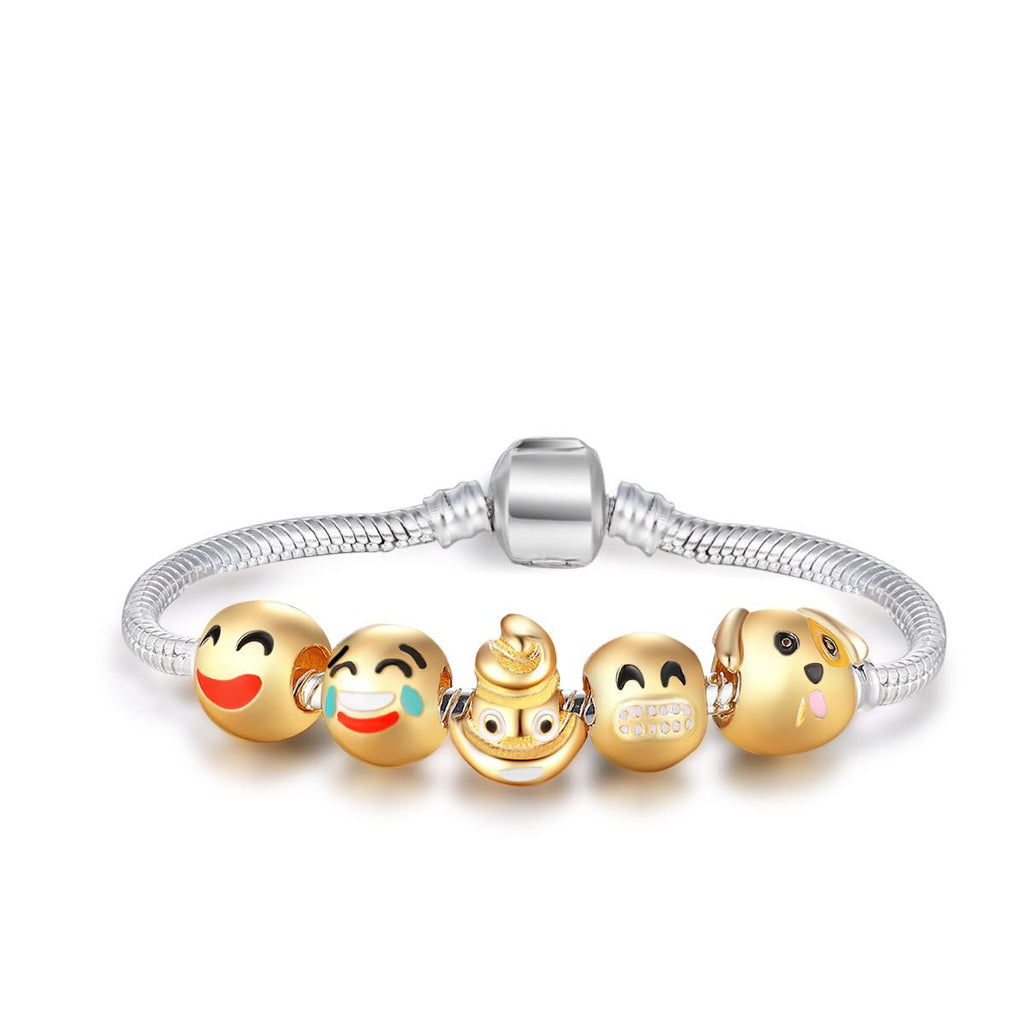 All Grins 5 Charm Bracelet Kit By Emoji Bracelet