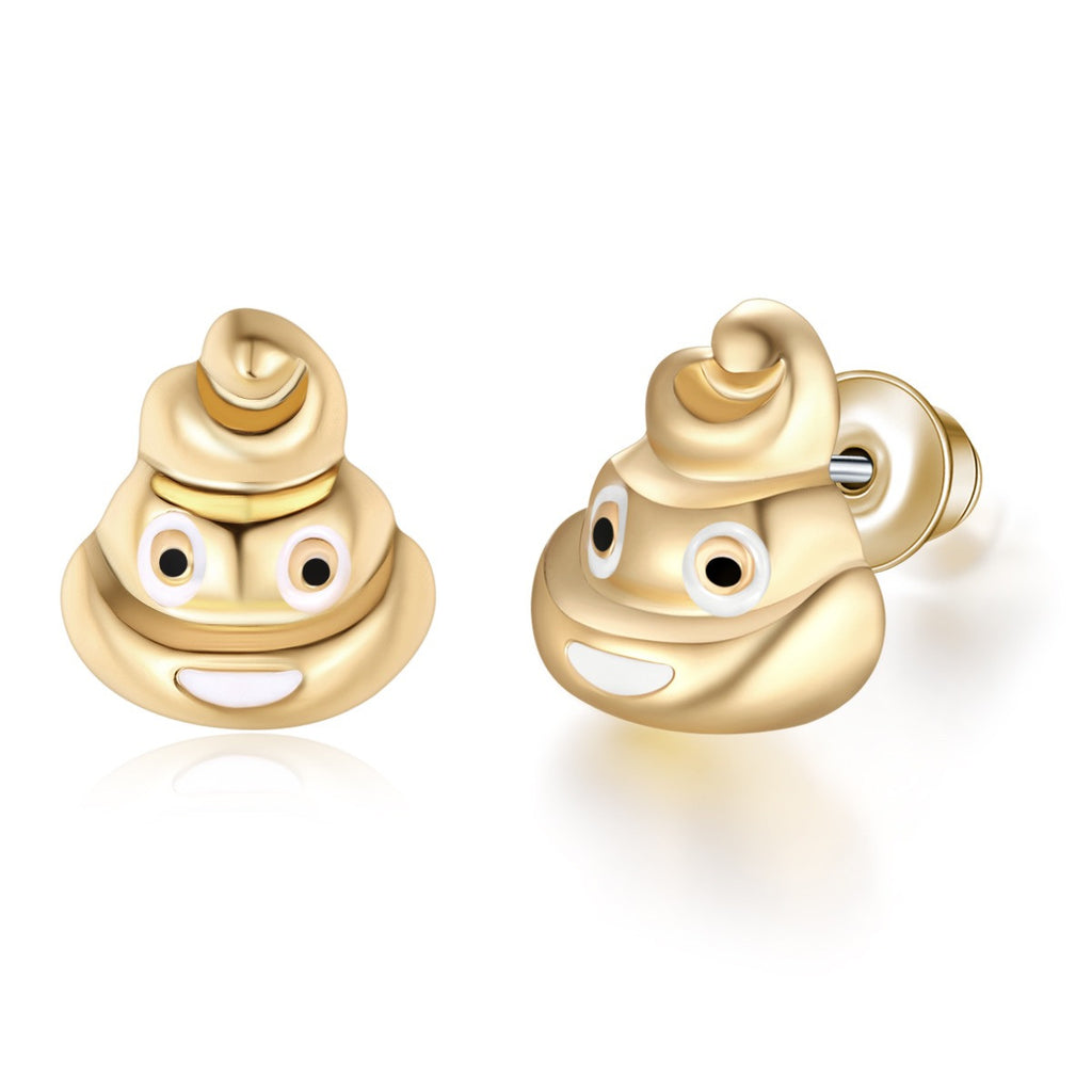 Pile Of Poo Emoji Earrings By Emoji Bracelet