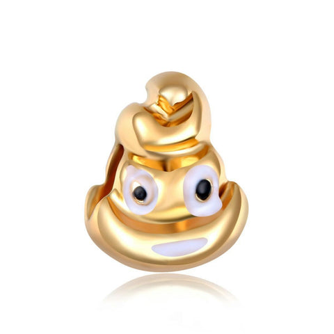 18k Gold Color Heart Eyes Emoji Charm By Emoji Bracelet