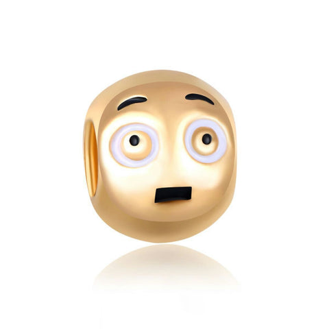 18k Gold Color Dog Emoji Charm