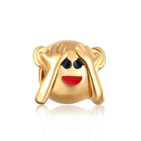 18k Gold Color Cool Emoji Charm By Emoji Bracelet