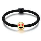 Heart Eyes Charm Emoji Hair Tie By Emoji Bracelet