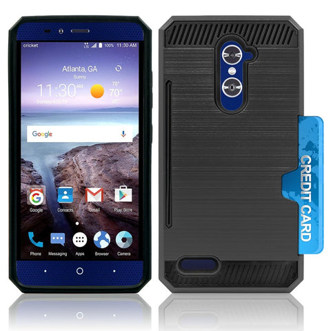 ZTE GRAND X MAX 2 / Z988 / ZMAX PRO / KIRK HYBRID SHOCKPROOF TOUGH CASE COVER BLACK